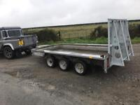 Ifor Williams tri axle plant trailer