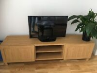 IKEA BESTA Oak TV stand. Fully assembled, perfect condition and under 6 months old.