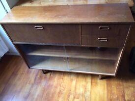 Vintage wood sideboard unit