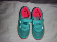 Girls VTY trainers in turquoise/green size 1 used very little
