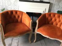 Velvet Tub Chairs