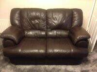 leather sofas x 2 (1 of them reclines)