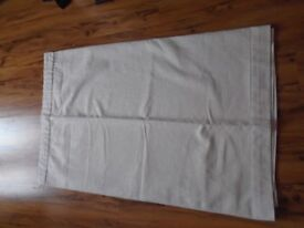 """Cream textured fully lined pencil pleat curtains - 60"""" x 47"""""""