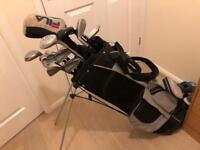 Assorted Golf Clubs & bag