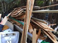 Free pine tongue & groove wood and old bath suite