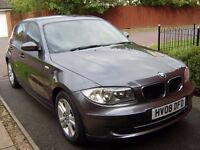 BMW 118D SE AUTOMATIC,GREY WITH BLACK LEATHER INTERIOR,FULL BMW SERVICE HISTORY