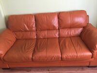 Sofa, Leather , 3 seat sofa