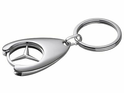 Genuine Mercedes-Benz Shopping Trolley Chip Keyring B66956082 NEW