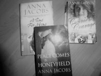 3 BOOKS, fiction. 2 paperbacks and 1 hardcover. Anna Jacobs, Annie Groves