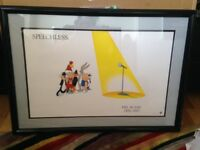 Warner Brothers Mel Blanc SPEECHLESS Framed Lithograph Print Looney Tunes