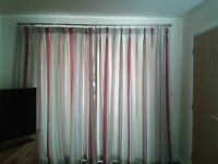 Curtains Laura Ashley Pink, grey and beige