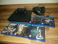 PS4 1TB + 5 Games (COD, MGS, Fallout, Until Dawn) + Wireless Controller + Wireless Headset