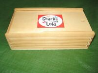 Charlie and Lola Wooden Dominoes in Wooden Box