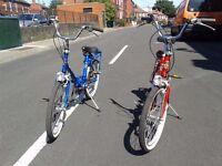 Two vintage folding bicycles (Italian made Cinzia bikes)
