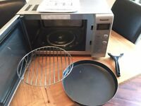Silver Panasonic Microwave with Grill