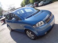 2003 AUDI A2 1.4 TDI 5 DOOR HATCHBACK BLUE 1 OWNER FROM NEW