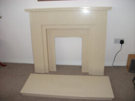 Marble fire surround and matching electric fire selling together or separately.