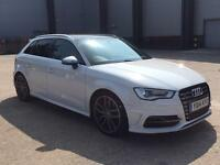 AUDI S3 TFSI DSG QUATTRO AUTO RED & BLACK LEATHER TWO KEYS HPI CLEAR TOP SPEC!