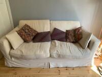 Free - Large 3 seater sofa cream