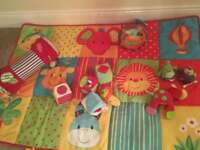 Play mat and sensory toys