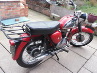 BSA B40 Motorcycle 1961 reg