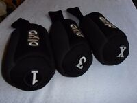NEW. OLYO. Universal Head-Covers. 1, 3, & X.