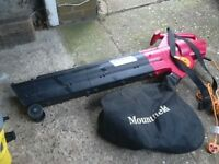 Leaf blower and vacuum mountfield make with air speed control and long lead vgc gwo