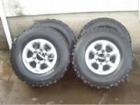 Japanese alloy wheels Mitsubishi 4x4 shogun Pajero delica