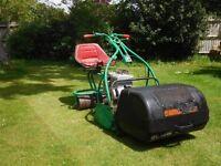 "Webb ride-on 24"" cylinder motor mower"