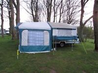Pennine Fiesta Folding Camper Trailer Tent 4 berth / Awning *BRAND NEW ROOF Lots of extras