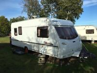2002 Lunar Solar Eclipse 525 4/5 Berth Touring Caravan Good Condition Sited Ready to Use