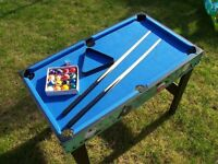 Small kids pool table with all accessories incl. chalk...