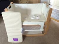 Snuzpod bedside crib very good condition