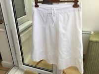 James Lakeland Designer Skirt Size 14 Made in Italy White Cotton Perfect Condition