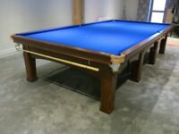 Full Size Snooker Table Riley Imperial Fully Restored with Free Delivery and Installation