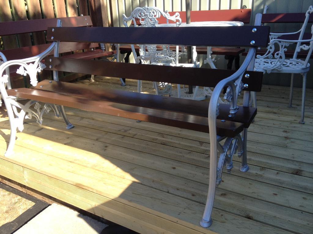 Restored Victorian Cast Iron Garden Bench Free Local