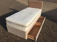 Luxury Sealy Posturepedic HYBRID Single Bed & Mattress Clean Condition, Free Delivery In Norwich,