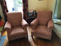 2 xAntique Art Deco arm chairs.