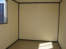 10ft x 8ft Anti Vandal Portable Cabin Welfare Unit Security Office GOOD CONDITION shipping container