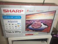 """NEW-BOXED 40""""SHARP LED FULL HD 1080P HDTV"""