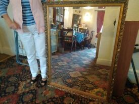 Large Gilt Framed Mirror. 44 inches X 34 inches