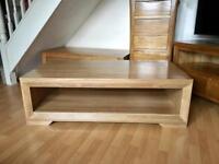 "Oak furniture land ""Bevel"" coffee table"
