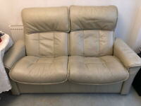 Stressless 2 seater recliner sofa, cream leather