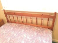 """Pine Headboard for Double bed, very good condition , re-advertised due to """"no shows"""" ..... £ 20"""