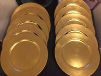 10 gold charger plates
