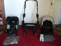 BRITAX B-SMART PUSHCHAIR AND CARRY HANDLE CAR SEAT FROM BIRTH MODULAR TRAVEL SYSTEM