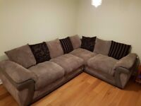 Grey 4 Seater Pillow-back Right-Hand Corner Sofa-Bed (Great Condition!)