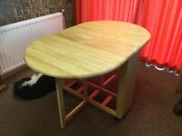 Drop Leaf Folding Table + 4 Chairs