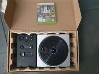 X Box 360 DJ Hero game and turntable.