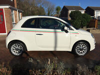 2015 Fiat 500 1.2 Lounge in White (Start/Stop) 14 Months Manufactures Warranty Remaining
